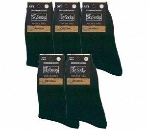Мужские носки ВУ SkySocks CM-5 хлопок чёрные гладкие