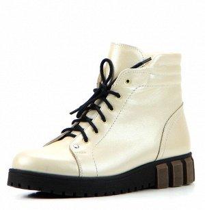 Ботинки кожа беж демисезон