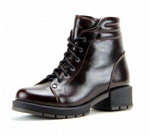 Ботинки кожа navara коричневый демисезон