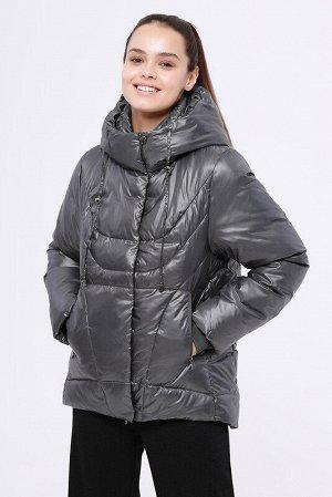 Куртка Состав: 56% ПЭ, 44% нейлон;  Сезон: Осень, Зима;  Цвет: Темно-серый;  ;  С подкладом: С подкладом (состав- 100% п/э);  Утеплитель: Утеплитель- Синтепух (280 гр/м) Укороченная теплая зимняя кур