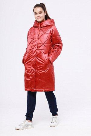 Пальто Состав: 78% ПЭ, 22% нейлон.  Цвет: Кирпичный.  Укороченное зимнее пальто Поэлли от российского производителя D'imma Fashion Studio. Центральная застежка на молнию и кнопки. Широкий ветрозащитны