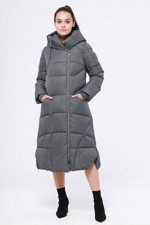 Пальто Состав: 78% ПЭ, 22% нейлон Сезон: Осень, Зима Цвет: Серый  С подкладом: С подкладом (состав- 50% полиэфир, 50% п/э) Утеплитель: Утеплитель- Синтепух Длинное теплое зимнее пальто от российского