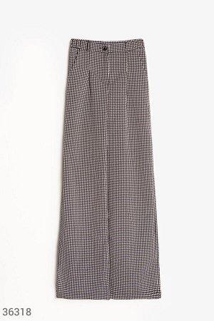 Черно-белые брюки-палаццо