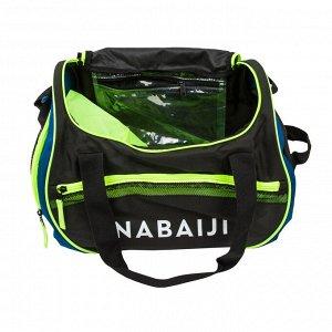 Сумка для плавания 30 л чёрно-зелёная nabaiji