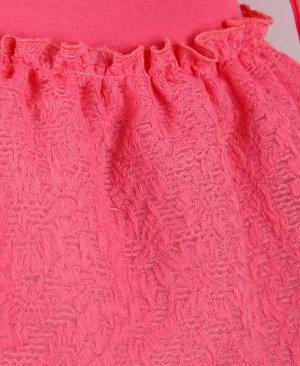 Коралловое платье для девочки 83211-ДН18