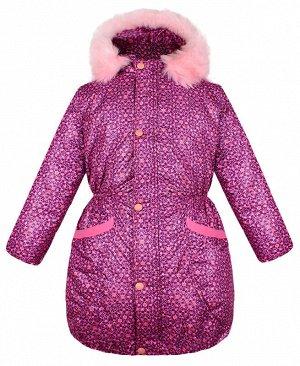 Тёплая куртка для девочки розового цвета 84075-ДЗ19