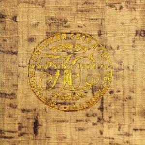 """Сейф-книга дерево кожзам """"Книга мудрых мыслей о финансах"""" тиснение 21х13х5 см"""