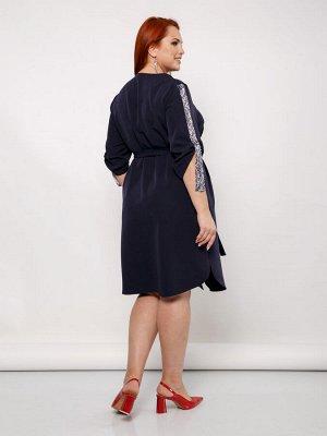 Платье 0129-1 т.синий
