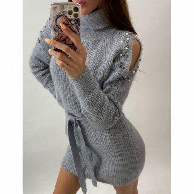 Комфортный трикотаж, джинсы по доступным ценам! — Теплые платья и туники — Вязаные платья