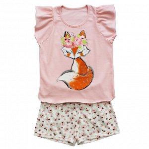 Пижама Милая пижамка. Яркий модный принт.  Материал: 100% хлопок, кулирка Размеры: 30, 32, 34, 36, 38 Состав -  100% хлопок, кулирка. Цвет - Персиковый
