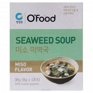 """Суп быстрого приготовления (морская капуста и паста мисо) """"Seaweed soup. Miso Flavor"""" 96 г"""