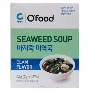 """Суп быстрого приготовления (морская капуста и моллюски) """"Seaweed soup. Clam Flavor"""" 84г"""