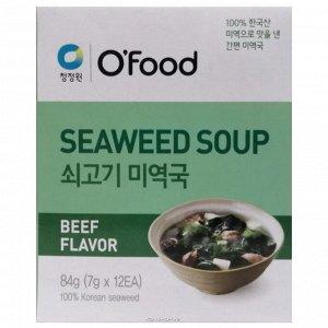 """Суп быстрого приготовления (морская капуста и говядина) """"Seaweed soup. Beef Flavor"""" 84г"""