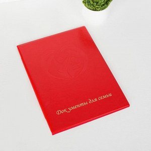 Папка для документов, 3 комплекта, цвет красный 5180176