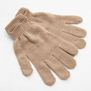 Перчатки  женские,цвет бежевый,р-р 18