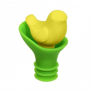 Пробка-лейка для бутылки силиконовая Птичка 4*6 см цвет в ассортименте  MARMITON 144/18, 17211