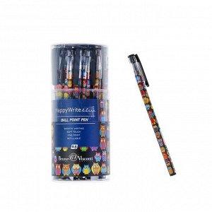Ручка шариковая HappyWrite «Сказочные совы», узел 0.5 мм, синие чернила, матовый корпус Silk Touch