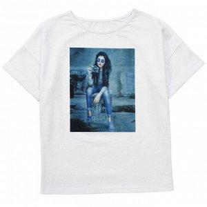 Блузка Модная блузка для девушек. Стильный принт. Отлично сочетается с Трико Модель 892. Материал: 95% хлопок, 5% эластан, кулирка с лайкрой пенье Размеры: 34, 36, 38, 40 Цвет - Белый