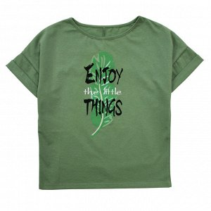 Блузка Модная блузка для девушек. Стильный принт. Материал: 95% хлопок, 5% эластан, кулирка с лайкрой Размеры: 34, 36, 38, 40, 42 Цвет - Светло-зеленый