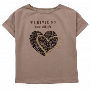 Блузка Модная блузка для девушек. Стильный принт. Цвет как на фото. Материал: 95% хлопок, 5% эластан, кулирка с лайкрой Размеры: 36, 38, 40, 42 Цвет - Бежевый