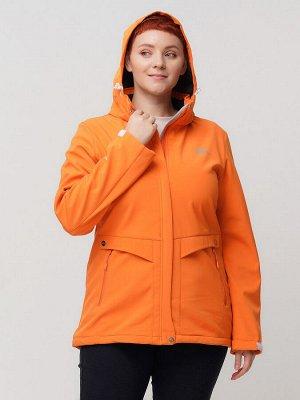 Ветровка MTFORCE bigsize оранжевого цвета 2032-1O
