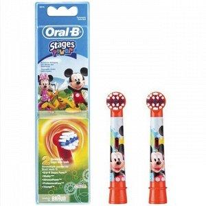 Насадки для детей Braun Oral-B Stages Kids Микки (2 шт)