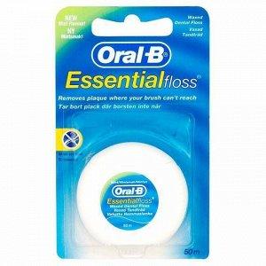 Нить межзубная вощеная Oral-B Essential, 50 м