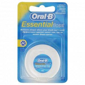 Нить межзубная невощеная Oral-B Essential, 50 м