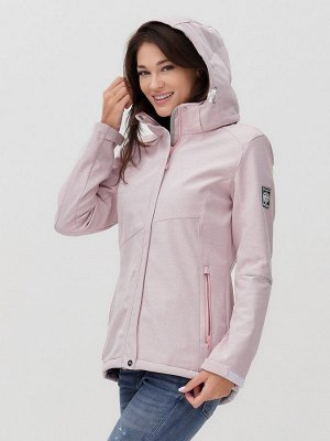 Ветровка MTFORCE женская розового цвета 2035R