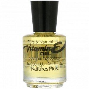 Nature&#x27 - s Plus, Масло с витамином Е, 14,000 IU, 1/2 жидких унций