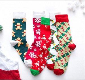 Носочки Новогодные высокие, в ассортименте