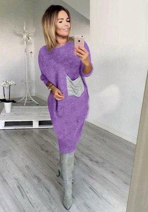 Платье Цвет не такой яркий как на фото (см. доп. фото) Ткань ангора