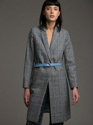 Пальто Осеннее настроение. Такое пальто средней длины до колена отлично впишется в деловой гардероб. В модели минимум деталей и аксессуаров - прорезные карманы и застежка на одну пуговицу добавляет мо
