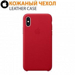Кожаный чехол Leather Case для iPhone XR