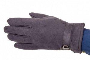 Перчатки мужские из велюра, цвет серый
