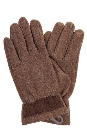Перчатки мужские из велюра, цвет коричневый