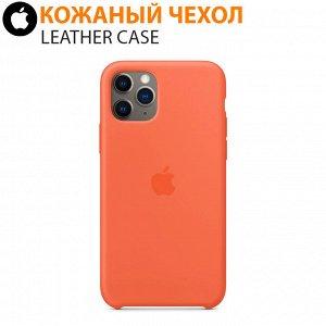 Кожаный чехол Leather Case для iPhone 11 Pro Max