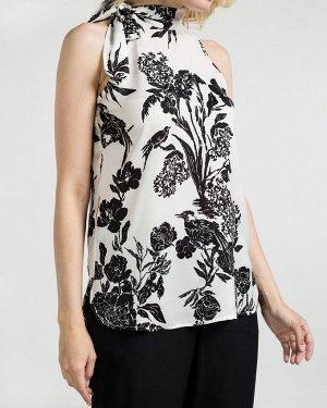 Блузка-топ жен. (002122)бело-черный
