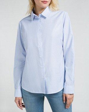 Рубашка жен. (002121)бело-голубой