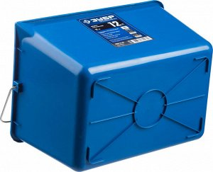 Ведро Ведро малярное пластмассовое, 12 л, высокопрочное, ЗУБР  ХАРАКТЕРИСТИКИ ЗУБР 0609-12_Z02: Размер, см: 20х25х35 Тип: малярное Объем, л: 12 Материал: пластик, сталь Цвет: синий Форма: прямоугольна