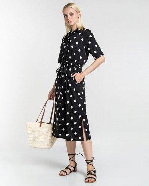 Платье жен. (002200)черно-белый