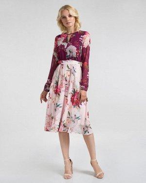 Платье жен. (001484)розово-бело-голубой