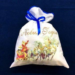 Новогодний мешок для конфет и подарков 30х40 см. Happy New Year №2