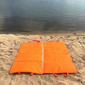 Пляжная сумка-лежак Морской бриз двухместный оранжевый