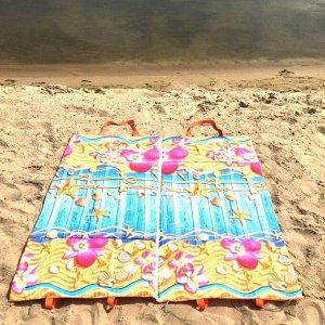 Пляжная сумка-лежак Морской бриз двухместный синий