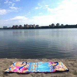 Пляжная сумка-лежак Морской бриз одноместный синий