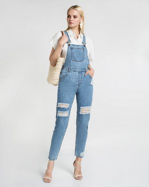Комбинезон джинсовый жен. (000050) Светло-синий