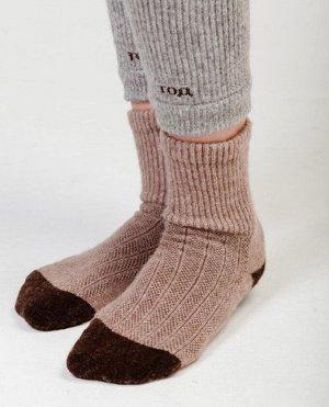 Носки 70% шерсть  (41-43, коричневый/шоколад)