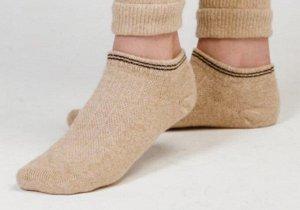 Носки из шерсти укороченные 70% (35-37, Бежевый )