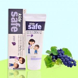 """Детская зубная паста """"Kids Safe"""" со вкусом винограда, от 3-х до 12 лет, 90 гр."""